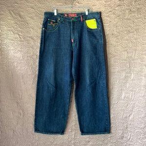 EUC Mens LRG 40W 34L Dark Blue Wash Denim Jeans